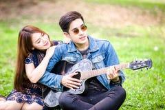 amour asiatique de couples Image stock