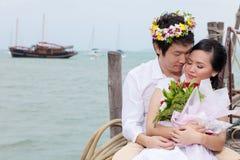 Amour attrayant de couples dans un moment Photographie stock