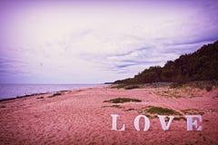 Amour au bord de la mer Images stock