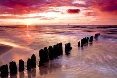 Amour au bord de la mer. Photos stock