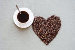 Amour au café Photographie stock libre de droits