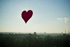 Amour au-dessus de la ville Photographie stock