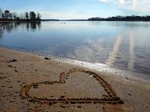 Amour au lac Image libre de droits