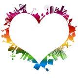 Amour au premier octet : Mon arc-en-ciel Photo libre de droits