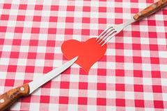 Amour au travail de cuisine Photographie stock libre de droits