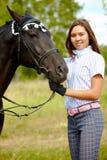 Amour aux chevaux Images libres de droits