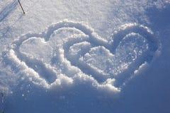 Amour aux coeurs ! Photographie stock libre de droits