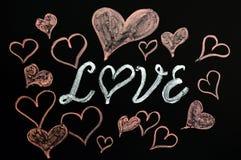 Amour avec des formes de coeur Photographie stock libre de droits