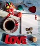 Amour avec des sucreries Image stock