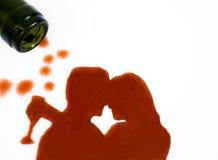 Amour avec du vin Photographie stock