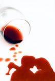 Amour avec du vin Photos stock
