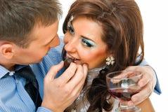 Amour avec du vin Photo libre de droits