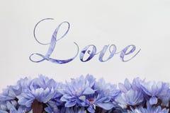 Amour avec la conception de fleurs Photo libre de droits