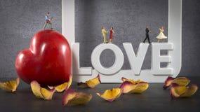 Amour avec la danse et la musique Images libres de droits