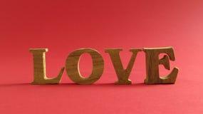 Amour avec le fond rouge Photographie stock
