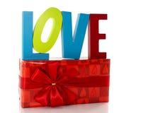 Amour avec le présent Photographie stock libre de droits