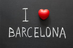 Amour Barcelone Photos stock