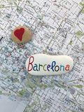 Amour Barcelone Photo libre de droits