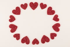 Amour blanc rond Image stock