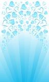 amour bleu de carte illustration libre de droits