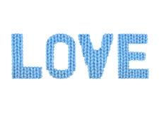 Amour Bleu de couleur Image libre de droits