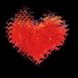 Amour brûlant 2. Photo libre de droits