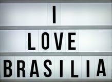 Amour Brasilia du caisson lumineux i Photographie stock libre de droits