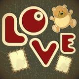 Amour - cardez pour le jour de Valentine illustration de vecteur
