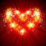 Amour, carte de voeux de bonne année Photos stock
