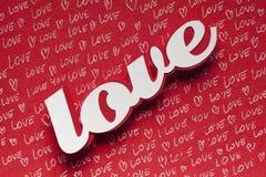 Amour - carte de voeux de jour de valentines Photo stock