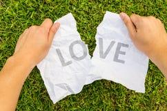 Amour cassé avec la main 2 Photographie stock