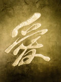 Amour chinois dans la pierre Image stock