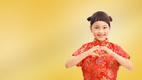 Amour chinois de fille vous Photo stock