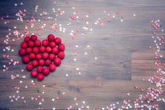 Amour, coeur, décoration, valentines, framboise Photos libres de droits