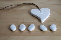 Amour, coeur et sucrerie Image libre de droits