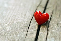 Amour - coeur rouge. Image stock