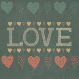 Amour, coeurs Image stock