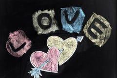 Amour, coeurs et flèche Images libres de droits