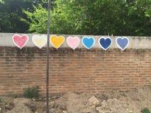 Amour coloré Image libre de droits