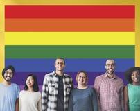 Amour Concpet homosexuel gratuit de symbole d'arc-en-ciel Photo libre de droits