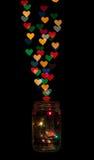 Amour contagieux dans un pot Image libre de droits