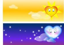 Amour cosmique Images libres de droits