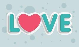 Amour créatif des textes pour la célébration heureuse de jour de valentines Photos stock