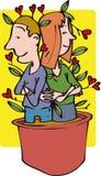 Amour croissant Image libre de droits