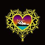 Amour décoratif 4 de cadre Image stock