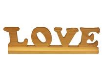 Amour découpé en bois Images libres de droits