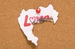 Amour détruit Photos stock