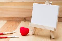 Amour d'éducation artistique de toile de peinture d'aspiration Photo stock