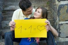 Amour d'étudiants Images stock