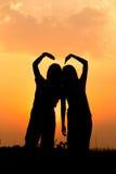 Amour d'amitié ensemble Images libres de droits